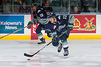 KELOWNA, CANADA - FEBRUARY 13:  Mathew Barzal #13 of the Seattle Thunderbirds skates with the puck over centre ice against the Kelowna Rockets on February 13, 2017 at Prospera Place in Kelowna, British Columbia, Canada.  (Photo by Marissa Baecker/Shoot the Breeze)  *** Local Caption ***