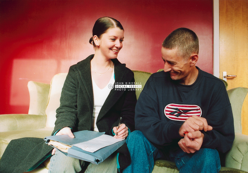 Homeless man just moved in to a housing association flat