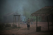 Most Central Africans begin their days preparing food around a wood fire in their front yard.