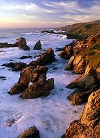 Marine arch along the Big Sur Coast - California.