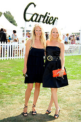 Left to right, sisters KATRINA SANDLING and HANNAH SANDLING at the Cartier International Polo at Guards Polo Club, Windsor Great Park on 27th July 2008.<br /> <br /> NON EXCLUSIVE - WORLD RIGHTS