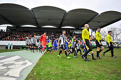 Player coming to the pitch before the football match between ND Mura and Nafta 1903 in Round #20 of 2.SNL 2017/18 on March 25, 2018 in Mestni stadion Fazanerija , Murska Sobota , Slovenia. Photo by Mario Horvat / Sportida