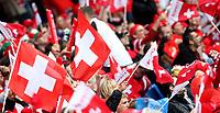 GEPA-0706086025 - BASEL,SCHWEIZ,07.JUN.08 - FUSSBALL - UEFA Europameisterschaft, EURO 2008, Schweiz vs Tschechien, SUI vs CZE. Bild zeigt Fans der Schweiz.<br />Foto: GEPA pictures/ Philipp Schalber