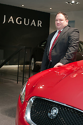 Hatfields Jaguar Sharrowvale Road Sheffield Newly Refurbished Showroom Sales Specialist Jamie Kenyon...10 January 2010.Images © Paul David Drabble