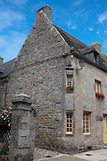 Stone houses in the historic centre of Roscoff, Brittany, France