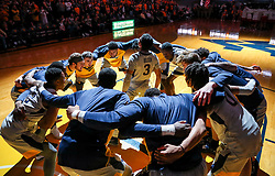 Dec 1, 2018; Morgantown, WV, USA; West Virginia Mountaineers guard James Bolden (3) leads the West Virginia Mountaineers in warmups before their game against the Youngstown State Penguins at WVU Coliseum. Mandatory Credit: Ben Queen-USA TODAY Sports