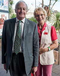 September 17, 2016 - London, England, United Kingdom - Image ©Licensed to i-Images Picture Agency. 17/09/2016. London, United Kingdom. Neil and Christine Hamilton arrive for the second day of the UKIP conference in Bournemouth. Newly elected leader of UKIP, Diane James MEP yesterday deleted Neil Hamilton from the list of speakers at the conference. Picture by i-Images (Credit Image: © i-Images via ZUMA Wire)