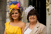 Karen Forde and her mother Helen from Claremorris at Hotel Meyrick in Eyre Sq. Galway for their best dressed Lady Competition during Galway's Race week . Photo:Andrew Downes.