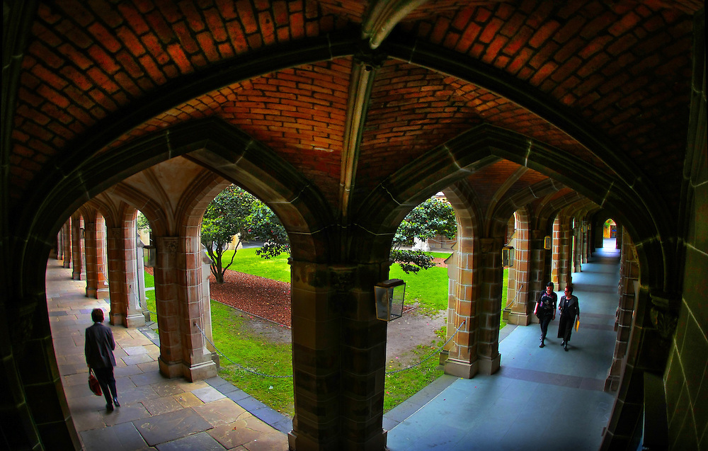Law cloisters University of Melbourne ...Melbourne University  Pic By Craig Sillitoe  02/10/2008 SPECIALX 000  Pic By Craig Sillitoe CSZ / The Sunday Age melbourne photographers, commercial photographers, industrial photographers, corporate photographer, architectural photographers, This photograph can be used for non commercial uses with attribution. Credit: Craig Sillitoe Photography / http://www.csillitoe.com<br /> <br /> It is protected under the Creative Commons Attribution-NonCommercial-ShareAlike 4.0 International License. To view a copy of this license, visit http://creativecommons.org/licenses/by-nc-sa/4.0/.