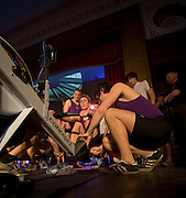 Bayswater, London,  University of London Team get some early training, before competing in the Snowdon Rowing Challenge, on Friday   05/03/2010  at the Porchester Hall London GREAT BRITAIN.  [Mandatory Credit. Peter Spurrier/Intersport Images]