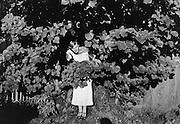 Gertraud Braun in White Summer Dress, Austria, 1934