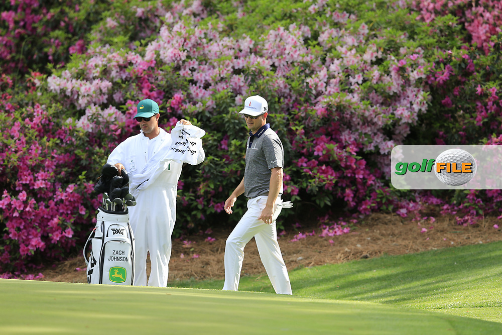 Zach Johnson (USA) on the 13th green during the 1st round at the The Masters , Augusta National, Augusta, Georgia, USA. 11/04/2019.<br /> Picture Fran Caffrey / Golffile.ie<br /> <br /> All photo usage must carry mandatory copyright credit (© Golffile   Fran Caffrey)