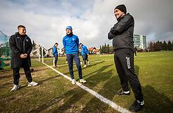 Andraz Kirm of Bravo and Darjan Sustar, assistant coach during first practice session of NK Bravo before the spring season of Prva liga Telekom Slovenije 2020/21, on January 5, 2021 in Sports park ZAK, Ljubljana Slovenia. Photo by Vid Ponikvar / Sportida