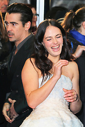 © Licensed to London News Pictures. 13/02/2014, UK. Jessica Brown Findlay; Colin Farrell, A New York Winter's Tale - UK film premiere, Odeon Kensington, London UK, 13 February 2014. Photo credit : Richard Goldschmidt/Piqtured/LNP