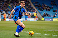 Gillingham FC forward Tom Eaves (9) during the EFL Sky Bet League 1 match between Gillingham and Scunthorpe United at the MEMS Priestfield Stadium, Gillingham, England on 16 February 2019.