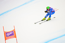 January 19, 2018 - Cortina D'Ampezzo, Dolimites, Italy - Johanna Schnarf of Italy competes  during the Downhill race at the Cortina d'Ampezzo FIS World Cup in Cortina d'Ampezzo, Italy on January 19, 2018. (Credit Image: © Rok Rakun/Pacific Press via ZUMA Wire)