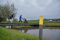 HALFWEG - Geel paaltje, waterhindernis,  Amsterdamse Golf Club (AGC). COPYRIGHT KOEN SUYK