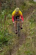 Cyclocross racing at the now defunct Eastway racing circuit, in Stratford, east London. The circuit was bulldozed to make way for the 2012 Olympics site.
