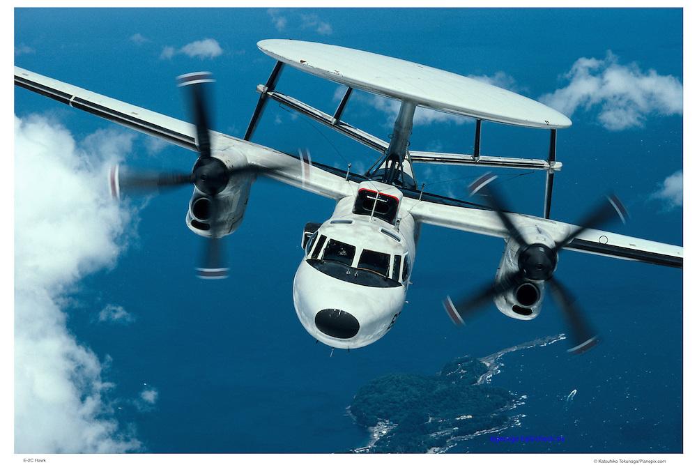 E-2C Hawkeye head on