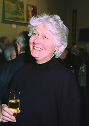 BRONWEN, VISCOUNTESS ASTOR at an exhibition in London on 8th January 1998.MEL 13