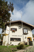 Low angle view of Club Andino Bariloche - mountaineering organization based in San Carlos de Bariloche, in Argentinian Andes