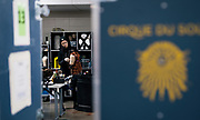 """A stylist prepares wigs for the main character of """"Cirque du Soleil: CRYSTAL"""", Crystal, at the Alliant Energy Center in Madison, WI on Wednesday, May 1, 2019."""
