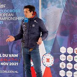 10-05-2021: Wielrennen: persmoment EK veldrijden: Wijster<br />KNWU directeur Thorwald Veneberg
