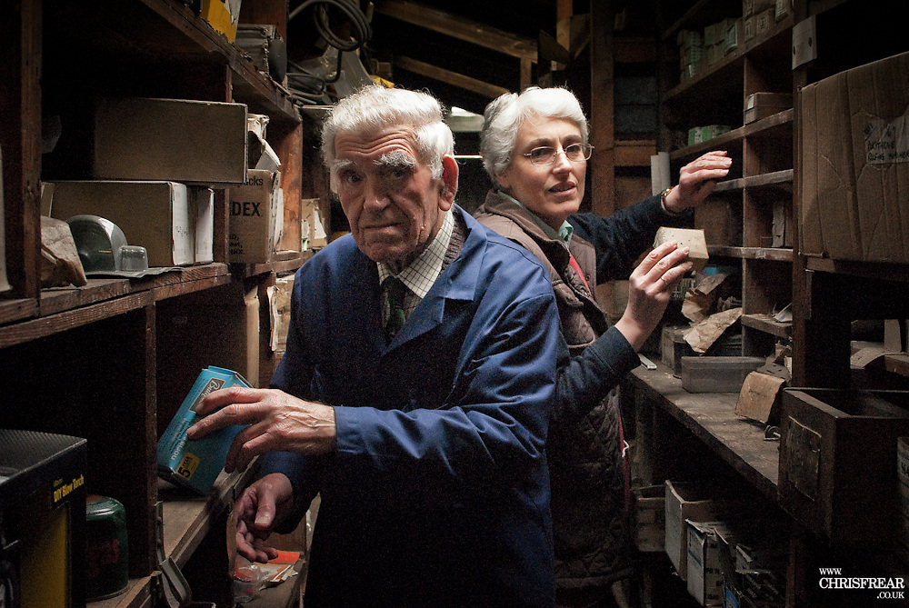 Father & Daughter Shopkeepers<br />Thornhill<br />Dumfries