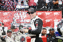 May 6, 2018 - Dover, Delaware, United States of America - Kevin Harvick (4) celebrates after taking the checkered flag and winning the AAA 400 Drive for Autism at Dover International Speedway in Dover, Delaware. (Credit Image: © Justin R. Noe Asp Inc/ASP via ZUMA Wire)