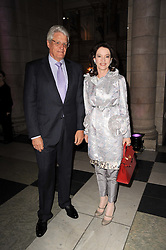 DR & MRS GERT RUDOLPH FLICK he is the German multi-millionaire at the opening of the Victoria & Albert Museum's latest exhibition 'Grace Kelly: Style Icon' opened by His Serene Highness Prince Albert of Monaco at the V&A on 15th April 2010.