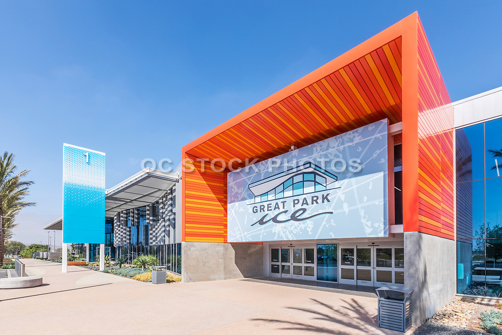 Outside the Front Entrance to Great Park Ice Rink