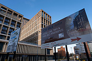 New apartments for sale in the city centre on 14th December 2020 in Birmingham, United Kingdom.  The city is under a long term and major redevelopment, with much of its industrial past being demolished and made into new flats for residential homes, as part of the Big City Plan.