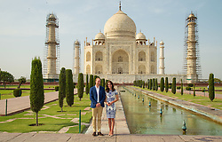 Embargoed to 0001 Wednesday December 28 File photo dated 16/04/16 of the Duke and Duchess of Cambridge during a visit to the Taj Mahal in India during day seven of their Royal tour to India and Bhutan.