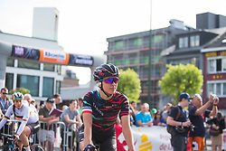 Katarzyna Niewiadoma (POL) of CANYON//SRAM Racing rides to the start of Liege-Bastogne-Liege - a 136 km road race, between Bastogne and Ans on April 22, 2018, in Wallonia, Belgium. (Photo by Balint Hamvas/Velofocus.com)