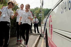 First Bus  supply travel for students at the British Schools Games held in Sheffield 2 September2011 . Image © Paul David Drabble