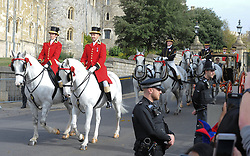 Princess Eugenie and Jack Brooksbank seen leaving Windsor castle after there wedding. 12 Oct 2018 Pictured: Princess Eugenie , Jack Brooksbank. Photo credit: MEGA TheMegaAgency.com +1 888 505 6342