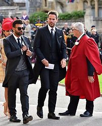 Jamie Redknapp arrives for the wedding of Princess Eugenie to Jack Brooksbank at St George's Chapel in Windsor Castle.