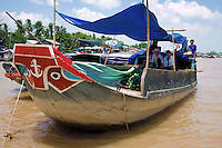 Mekong Delta riverboats are commonly decorated with eyes on the bow, reputedly to scare away alligators and other forms of evil.  The Mekong basin is one of the richest areas of biodiversity in the world.