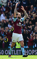Henri Lansbury of Aston Villa claps off the fans . EFL Skybet championship match, Aston Villa v Birmingham city at Villa Park in Birmingham, The Midlands on Sunday 23rd April 2017.<br /> pic by Bradley Collyer, Andrew Orchard sports photography.