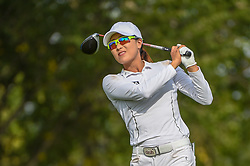 August 23, 2018 - Regina, SK, U.S. - REGINA, SK - AUGUST 23: Jennifer Song (USA) watches her tee shot on 5 during the CP Women's Open Round 1 at Wascana Country Club on August 23, 2018 in Regina, SK, Canada. (Photo by Ken Murray/Icon Sportswire) (Credit Image: © Ken Murray/Icon SMI via ZUMA Press)