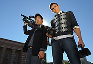 Brian Tan (left) and J.P. Castel are members of the Los Angeles division of the Film and Photography Society (FPS). FPS gathers aspiring photographers and filmmakers.to get hands-on practice and provide visual media services for the campus as a whole. FPS aims to provide an avenue of practical filmmaking to all students.