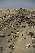 The highway of death in Kuwait in 1991..Photograph by Dennis Brack bb24