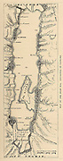 Map of the Dead Sea From the book 'Those holy fields : Palestine, illustrated by pen and pencil' by Manning, Samuel, 1822-1881; Religious Tract Society (Great Britain) Published in 1874