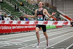 New Balance Indoor Grand Prix<br /> Staten Island, New York, February 13, 2021<br /> mens 1500m, On, OAC, Oliver Hoare, AUS, wins in 3:32.35, sets national record for Australia