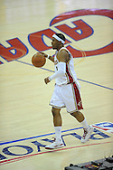 The Washington Wizards defeated the Cleveland Cavaliers 88-87 in Game 5 of the First Round of the NBA Playoffs, April 30, 2008 at Quicken Loans Arena in Cleveland.<br /> Daniel Gibson brings the ball up court.