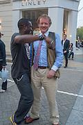 Orlando Hamilton; Richard Briggs, Pimlico Rd. Jubilee streetparty. London. 29 May 2012.