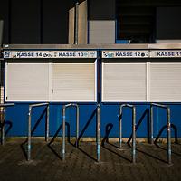 22.03.2020, Vonovia Ruhrstadion , Bochum<br /> <br /> im Bild | picture shows:<br /> <br /> Rund um das Bochumer Vonovia Ruhrstadion, wie vor den Kassenhaeusern, herrscht komplette Leere. <br /> <br /> Foto © nordphoto / Rauch