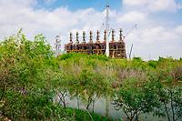 Construction progress at ExxonMobil Baytown Olefins Plant, Baytown, Texas