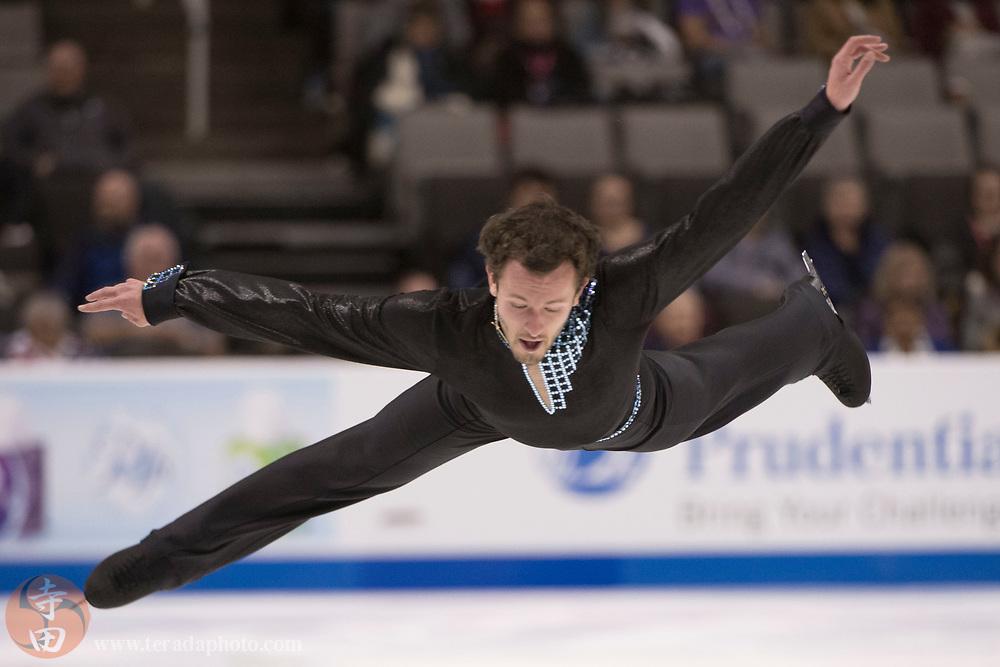 January 4, 2018; San Jose, CA, USA; Daniel Kulenkamp performs in the mens short program during the 2018 U.S. Figure Skating Championships at SAP Center.