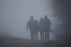 © Licensed to London News Pictures. 30/12/2016. Dorking, UK. Foggy conditions on Boxhill near Dorking on another day of  freezing temperatures. Photo credit: Peter Macdiarmid/LNP